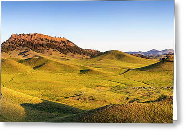 Panoramic Of The Bears Paw Mountains Greeting Card