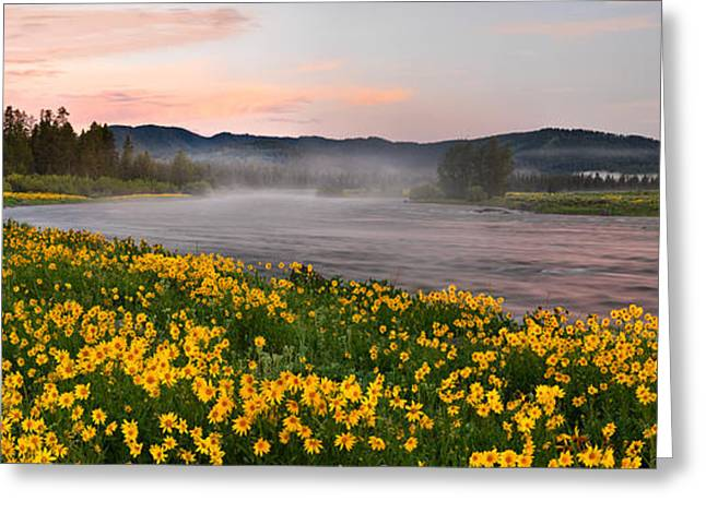 Panoramic Spring Greeting Card by Leland D Howard