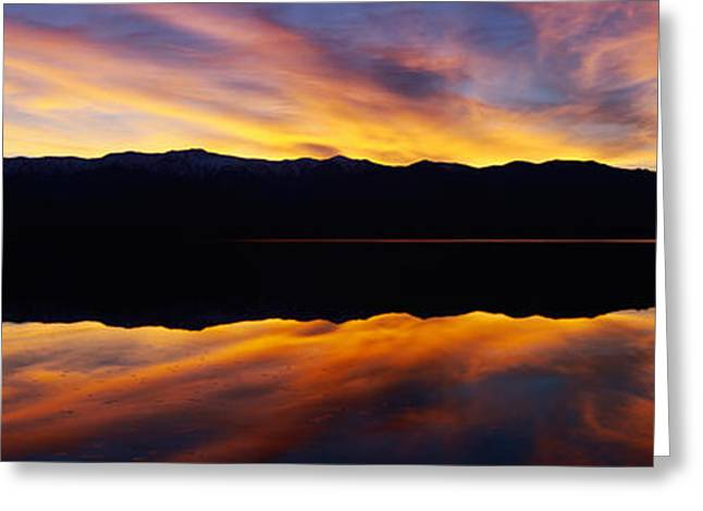 Panoramic View At Sunset Of Flooded Greeting Card by Panoramic Images