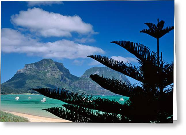 Panoramic View Of A Coastline, Lord Greeting Card by Panoramic Images