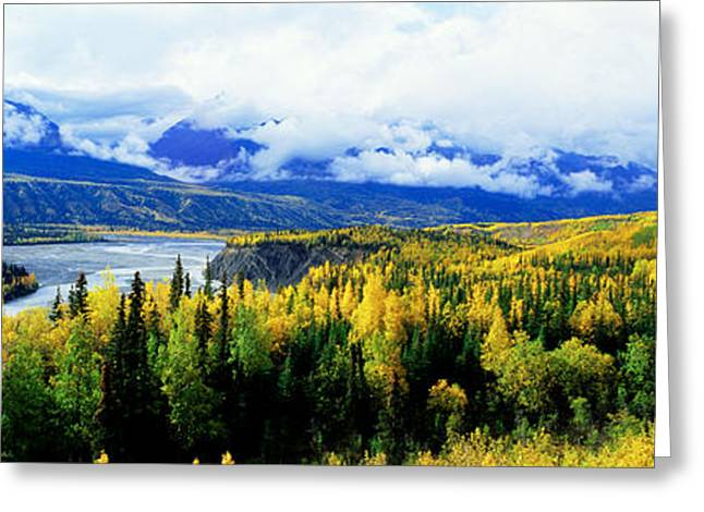 Panoramic View Of A Landscape, Yukon Greeting Card