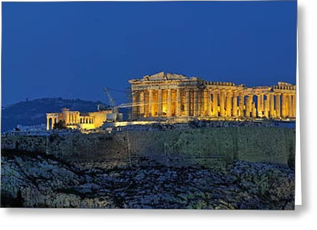 Panoramic View Of Acropolis Of Athens Greeting Card