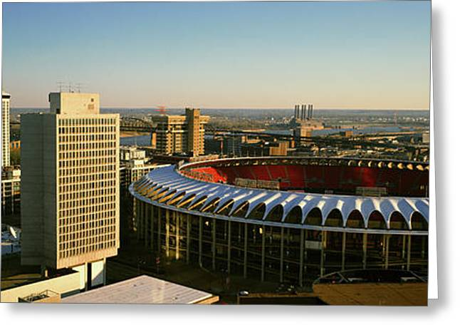 Panoramic View Of Busch Stadium Greeting Card