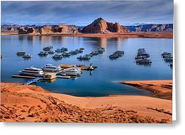 Panoramic View Of Lake Powell Greeting Card