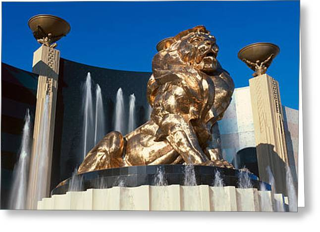 Panoramic View Of Mgm Lion And Mgm Greeting Card