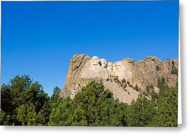 Panoramic View Of Mount Rushmore Greeting Card by Panoramic Images