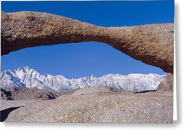 Panoramic View Of Mount Whitney Framed Greeting Card by Panoramic Images