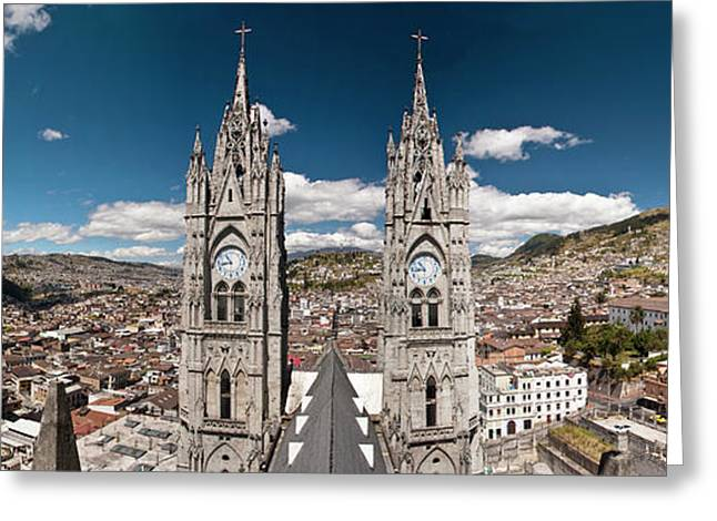 Panoramic View Of The Bell Towers Greeting Card