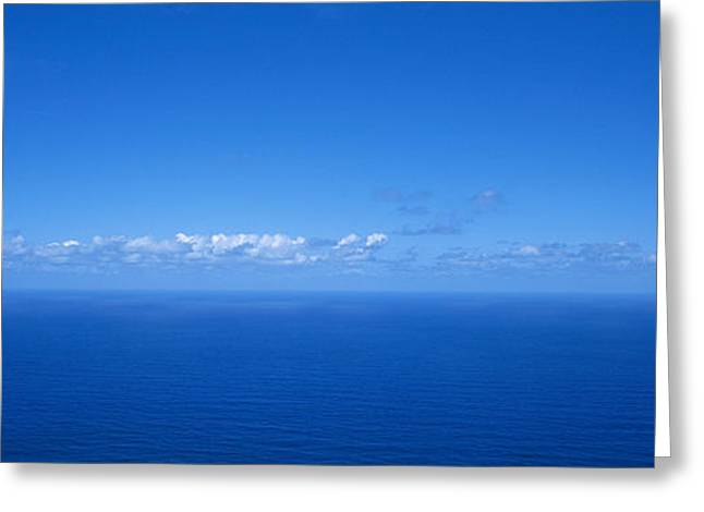Panoramic View Of The Seascape Greeting Card by Panoramic Images