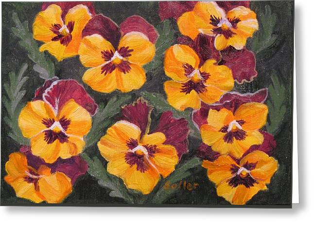 Pansies Are For Thoughts Greeting Card
