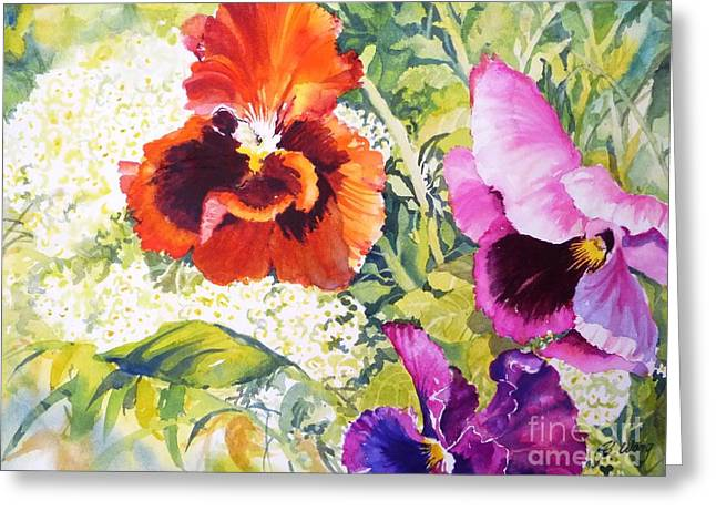Pansies Delight #2 Greeting Card