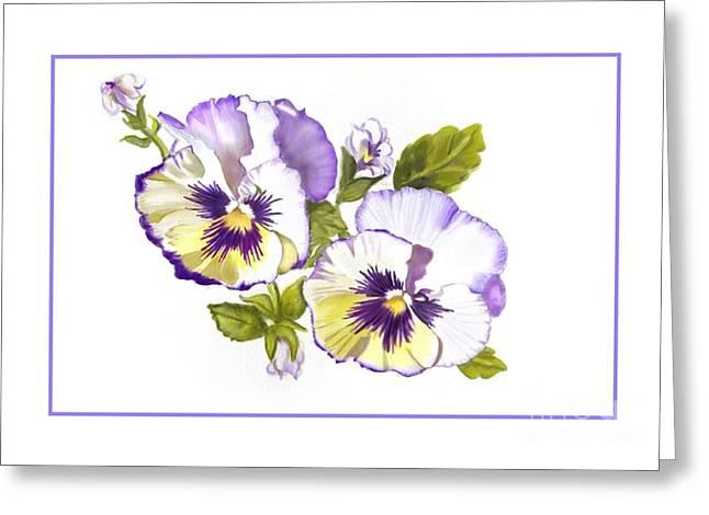 Pansies For Ree Greeting Card