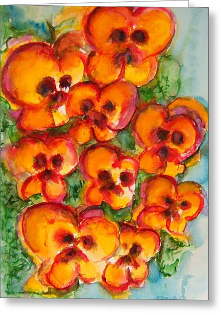 Pansies Love Us Greeting Card