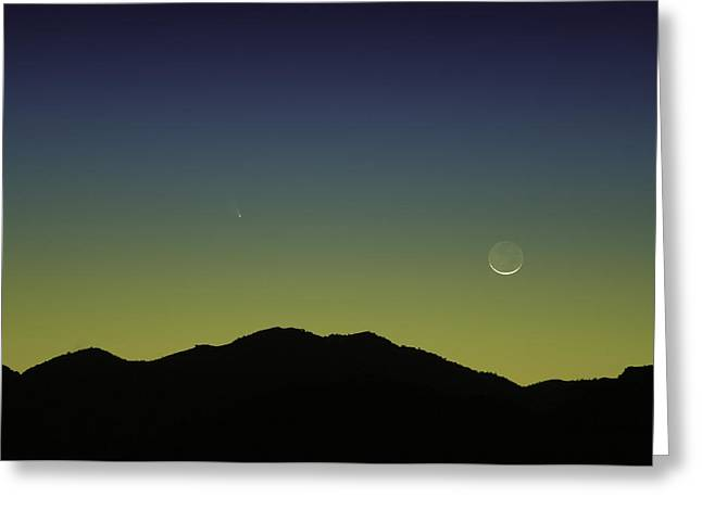 Panstarrs Comet Greeting Card