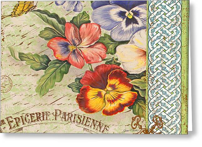 Pansy Garden-b Greeting Card by Jean Plout