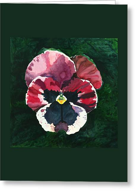 Pansy Red Greeting Card