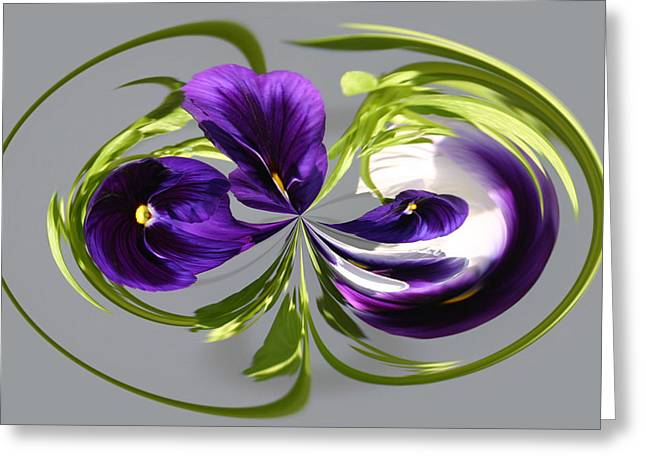 Pansy Series 801 Greeting Card
