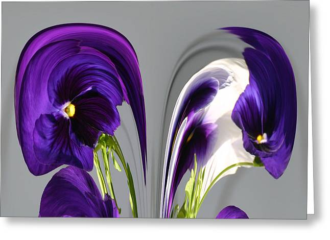 Pansy Series 803 Greeting Card