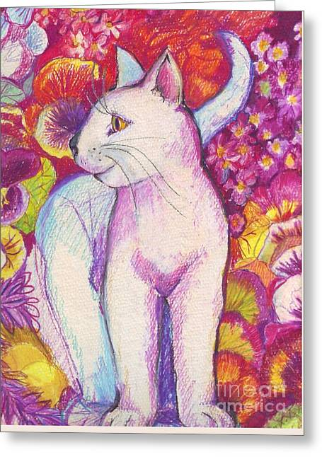 Pansy The Cat Greeting Card