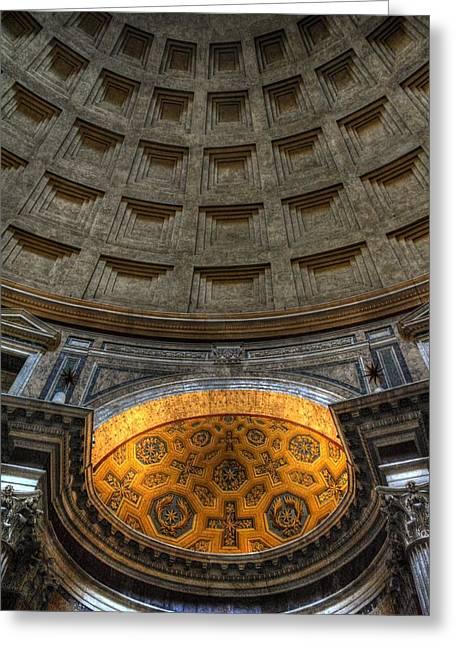 Pantheon Ceiling Detail Greeting Card