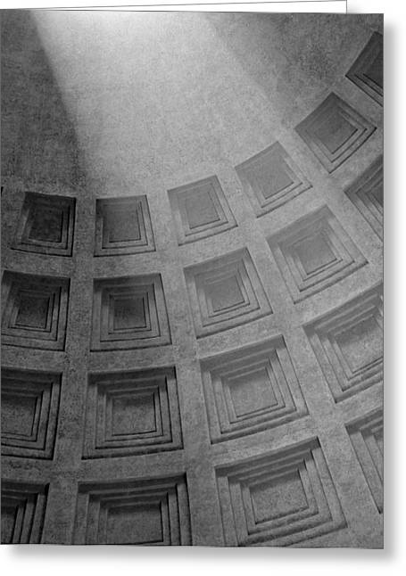 Pantheon Ceiling Greeting Card