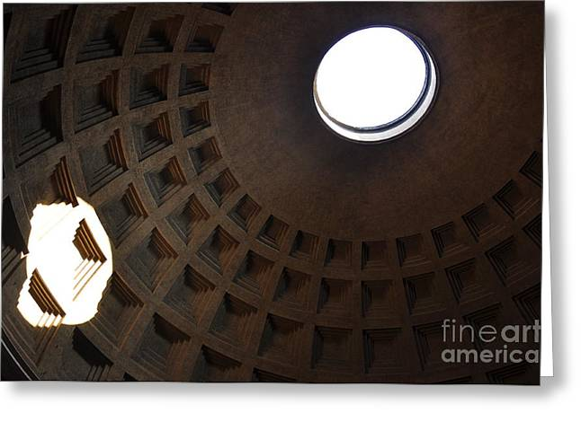 Pantheon Dome Greeting Card by Katie Fitzgerald