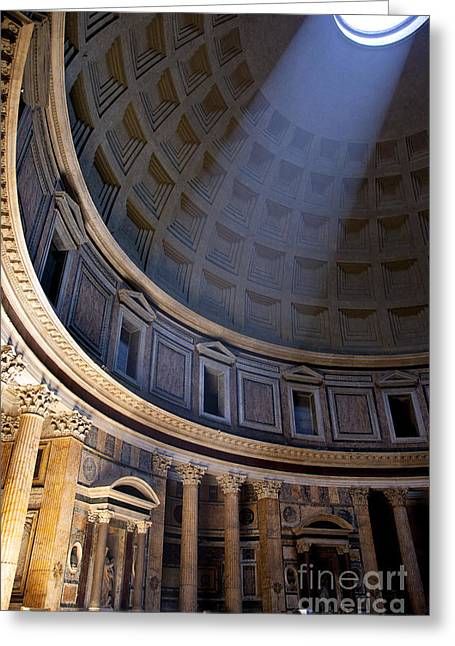 Greeting Card featuring the photograph Pantheon Interior by Brian Jannsen