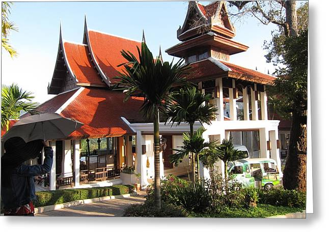 Panviman Chiang Mai Spa And Resort - Chiang Mai Thailand - 011383 Greeting Card by DC Photographer