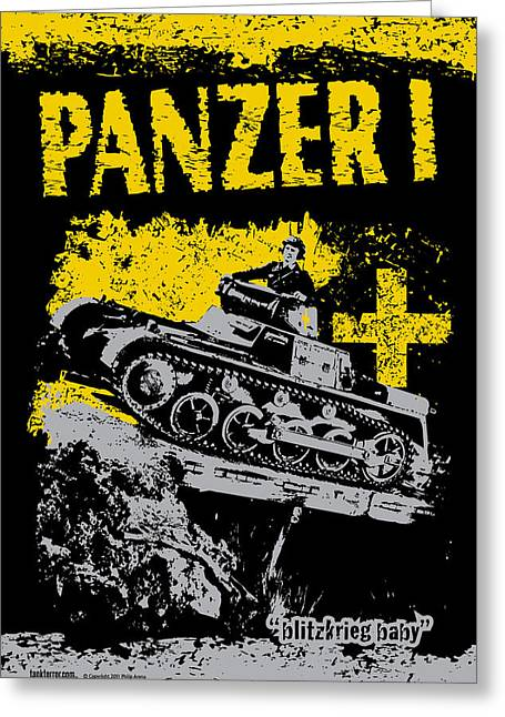 Panzer I Greeting Card by Philip Arena