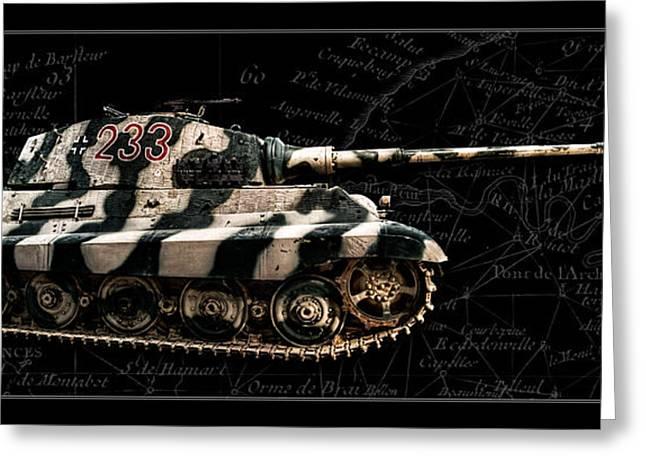 Panzer Tiger II Side Bk Bg Greeting Card