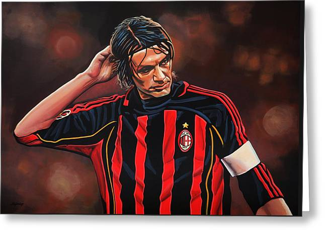 Paolo Maldini Greeting Card