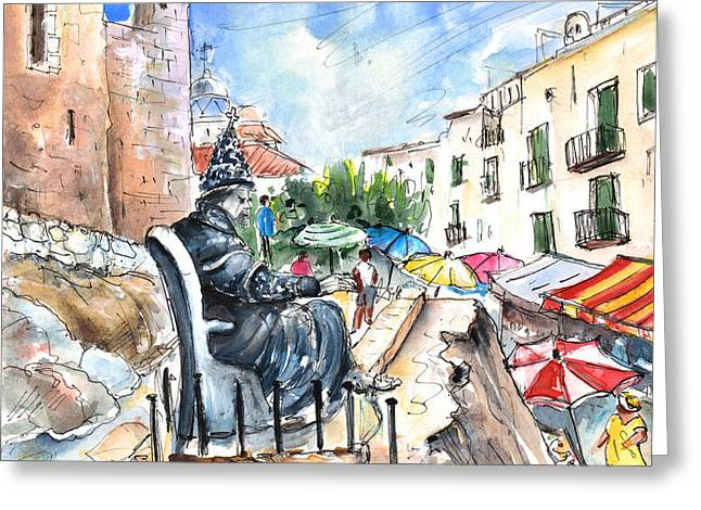 Papa Luna In Peniscola Greeting Card by Miki De Goodaboom
