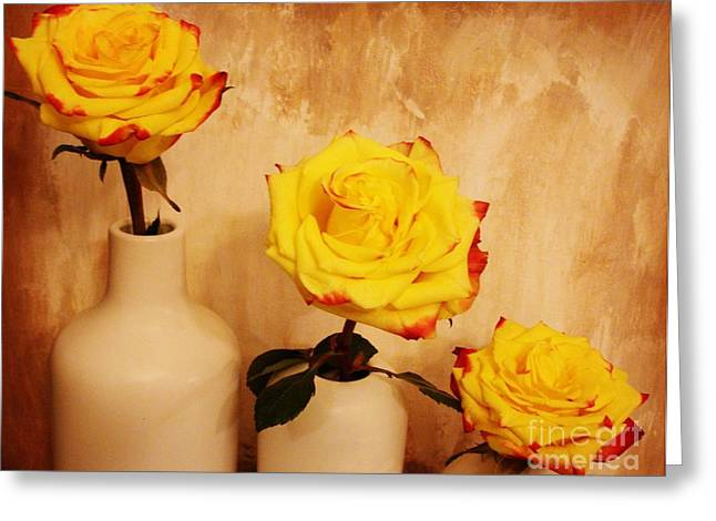 Papa Mama Baby Roses Greeting Card
