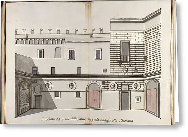 Papal Palace In Rome Greeting Card