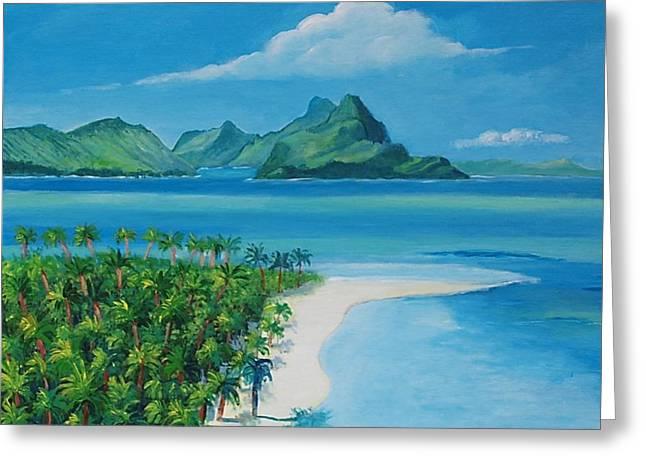 Papeete Bay In Tahiti Greeting Card