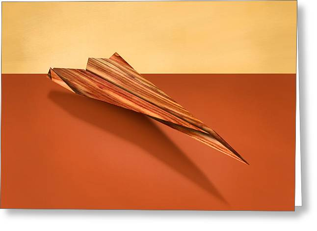 Paper Airplanes Of Wood 4 Greeting Card by YoPedro