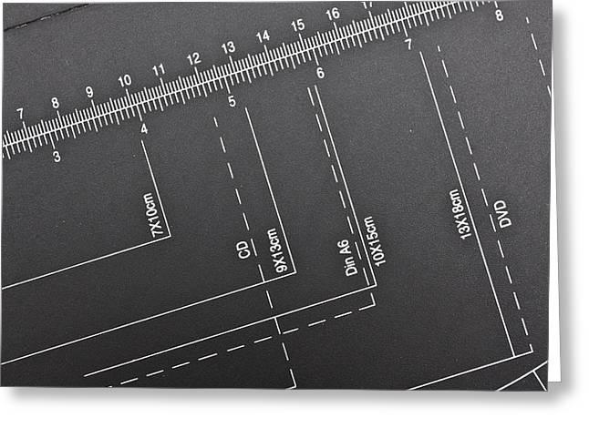 Paper Cutting Measurer Greeting Card