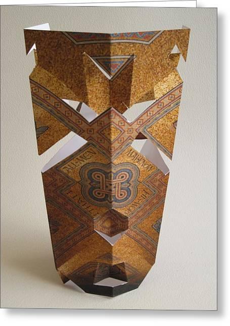 Paper Mask Greeting Card by Alfred Ng
