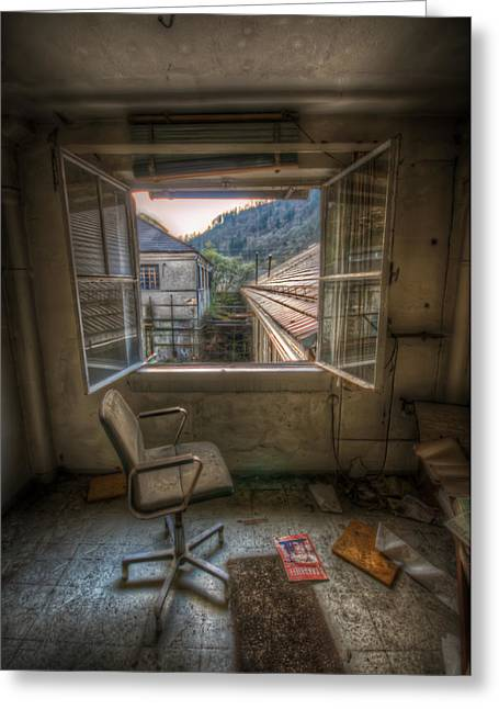 Paper Mill Reflection  Greeting Card by Nathan Wright