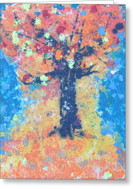 Paper Tree Greeting Card by Casey Corbin