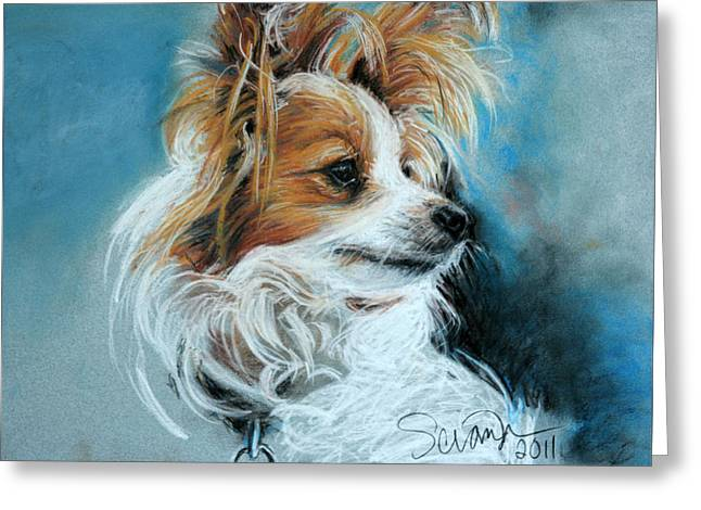 Papillon Greeting Card