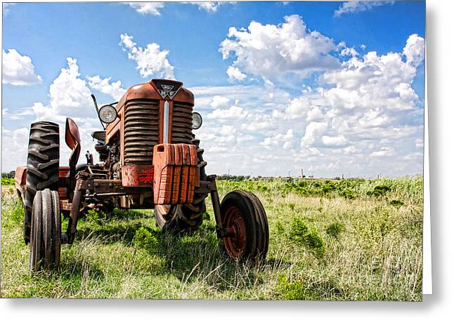 Pappa's Tractor Greeting Card