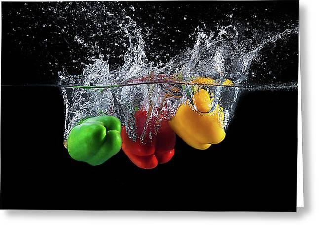 Paprika Splash Greeting Card
