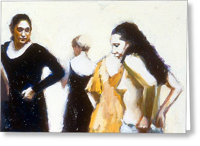 Paquita And Donna Backstage Greeting Card by Susanne Forestieri