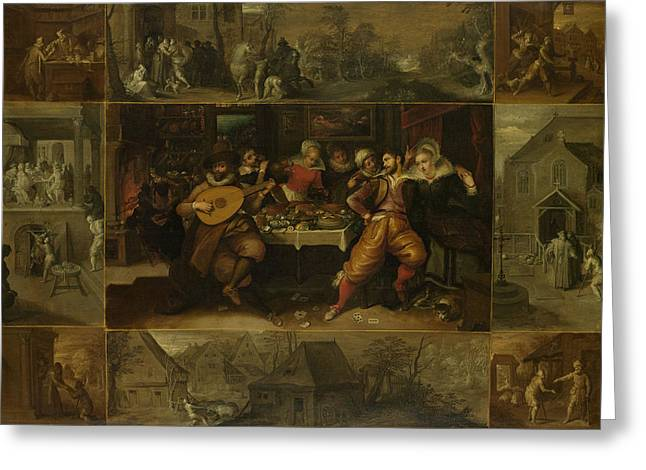 Parable Of The Prodigal Son, Frans Francken Greeting Card by Litz Collection
