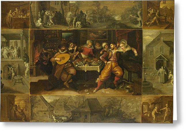 Parable Of The Prodigal Son Greeting Card by Frans Francken
