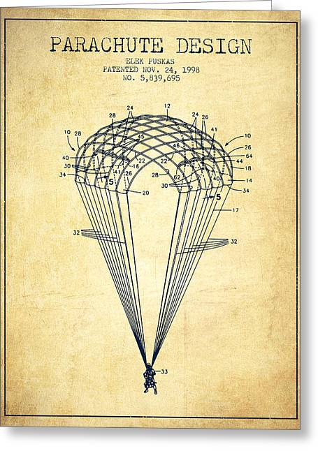 Parachute Design Patent From 1998 - Vintage Greeting Card by Aged Pixel