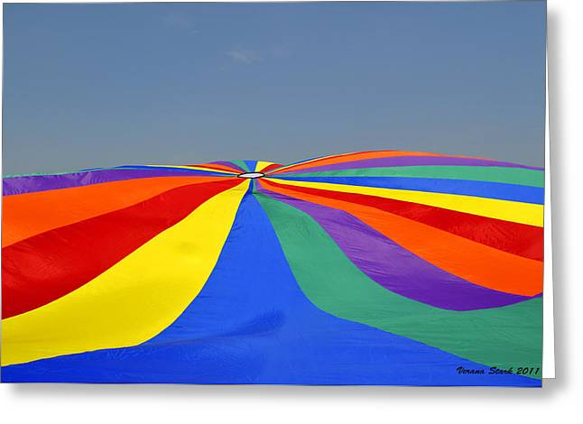Parachute Of Many Colors Greeting Card