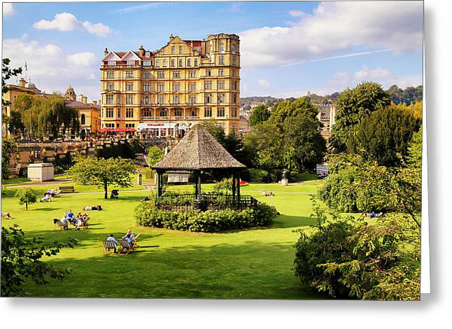 Greeting Card featuring the photograph Parade Gardens Bath by Michael Hope