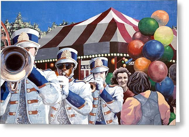 Parade Mural In Dothan Greeting Card by Carol M Highsmith